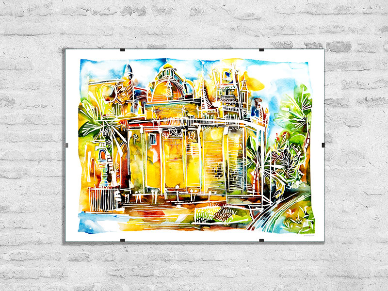 Watercolor paintings and watercolor fine art prints